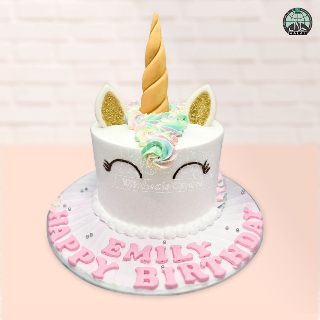 Rainbow Birthday Cakes Customised Magical Unicorn Pastel Rainbow Birthday Cake Party