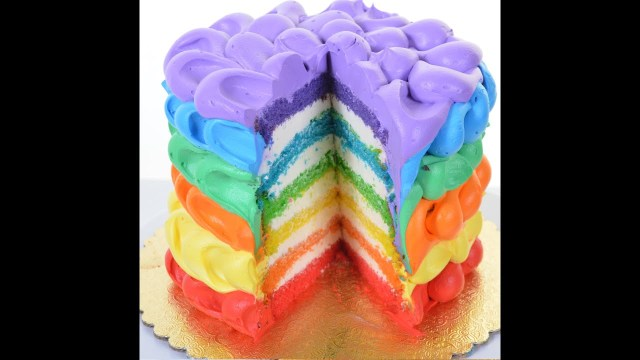 Rainbow Birthday Cakes Rainbow Cake Decorating Tutorial How To Decorate Rainbow Birthday
