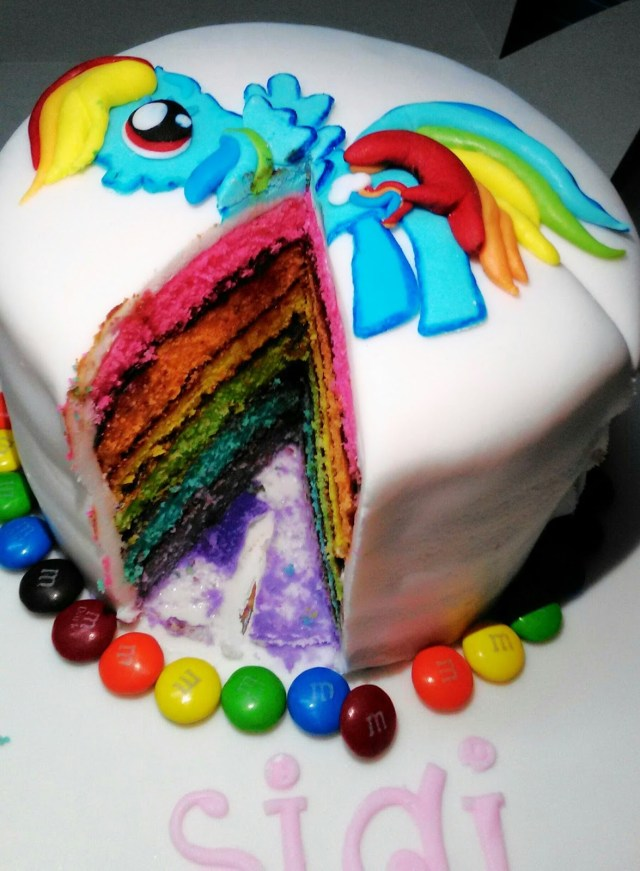 Rainbow Dash Birthday Cake Sunshine Bakes Rainbow Dash Birthday Cake