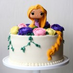 Rapunzel Birthday Cake I Heart Baking Tangled Rapunzel Birthday Cake With Buttercream Flowers