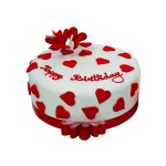 Red Birthday Cake 1 Kg Red White Birthday Cake Floral Mall