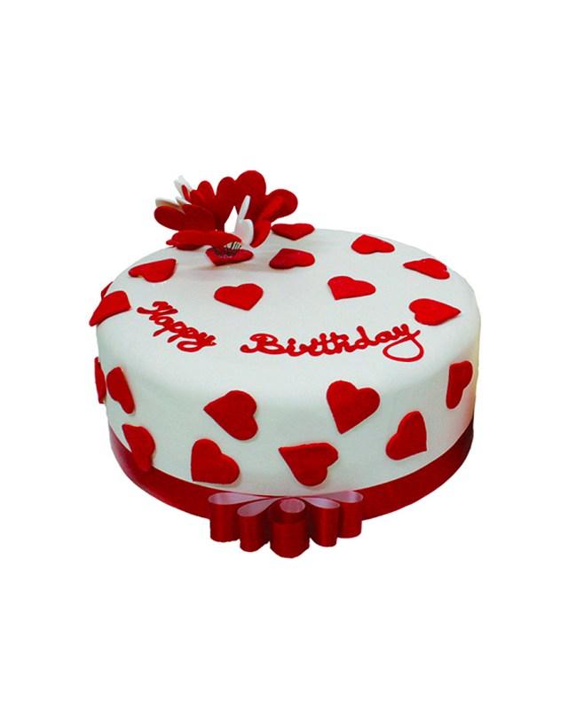 Red Birthday Cake 1 Kg Red White Birthday Cake Floral Mall