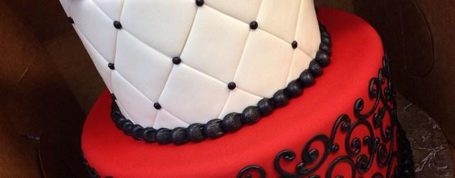Red Birthday Cake Black White And Red Birthday Cake For A Phantom Of The Opera Theme