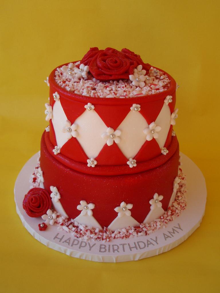 Red Birthday Cake Red White Birthday Cake Birthday Girl Amy Saw A Photo Of Flickr