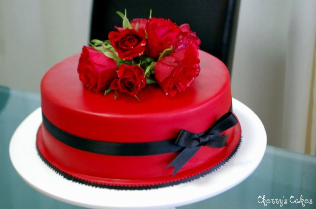 Red Birthday Cake Very Beautiful Birthday Cakes With Red Roses Homemade Party Design