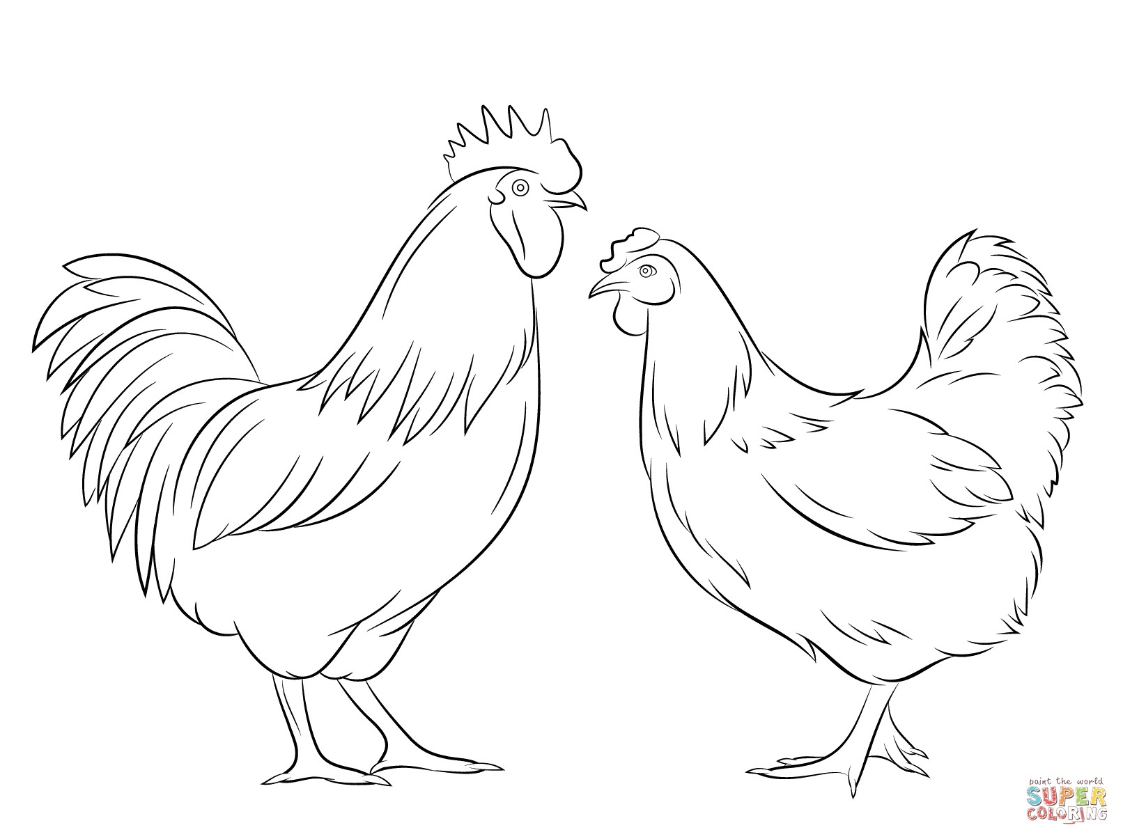 Rooster Coloring Page Rooster Coloring Page Fresh Soar And Hen Free For Bitslice