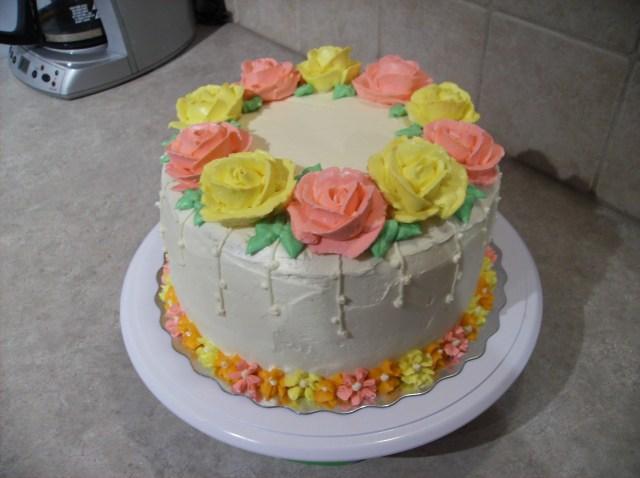 Rose Birthday Cake Buttercream Rose Birthday Cake Pastry Passion