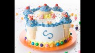 Round Birthday Cakes Decorate A Birthday Cake In Minutes Youtube