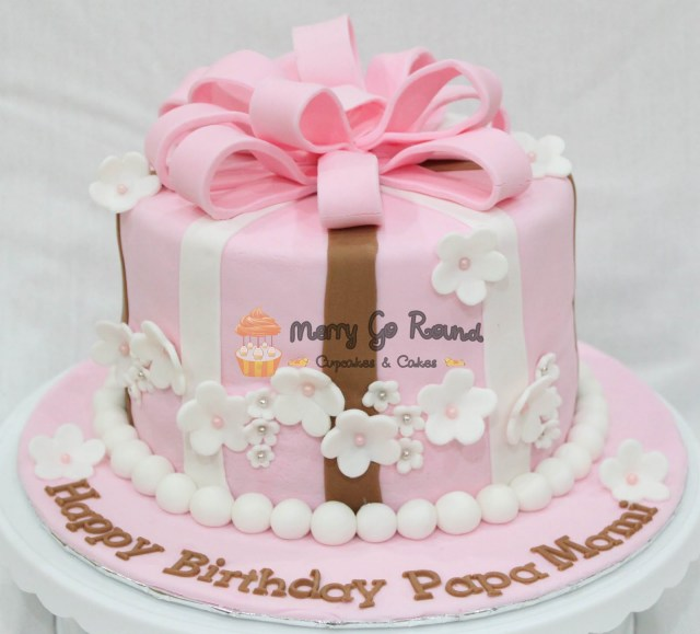 Round Birthday Cakes Merry Go Round Cupcakes Cakes Pearly Gift Box Birthday Cake