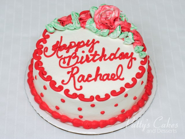 Round Birthday Cakes Photo Of A Red White Green Round Birthday Cake Pattys Cakes And