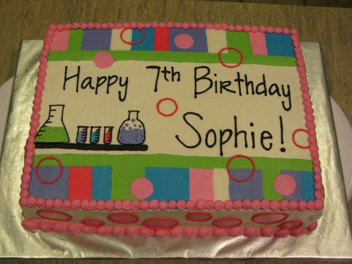 Science Birthday Cake A Counselors Confections Science Birthday Cake