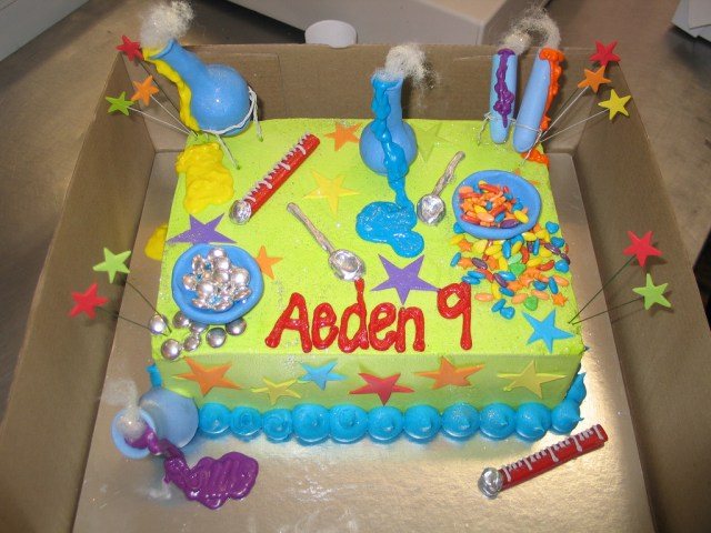 Science Birthday Cake Aedens Science Theme Birthday Cake A Photo On Flickriver