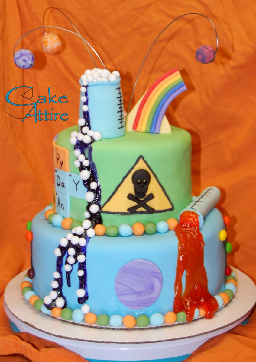Science Birthday Cake Mad Science Birthday Cake Cakecentral