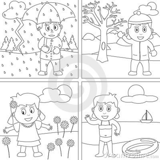 Seasons Coloring Pages Winter Season Coloring Pages Seasons Ethicstech Super Coloring Page