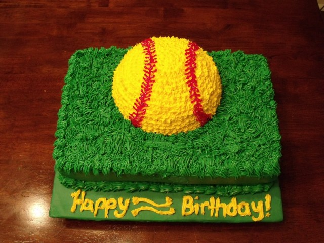 Softball Birthday Cakes Softball Birthday Cake Cakecentral