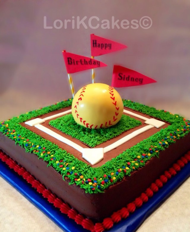 Softball Birthday Cakes Softball Birthday Cake Girls Softball Cake Baseball Diamond Cake