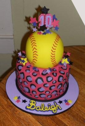 Softball Birthday Cakes Softball Birthday Cake Softball Cakes Pinte
