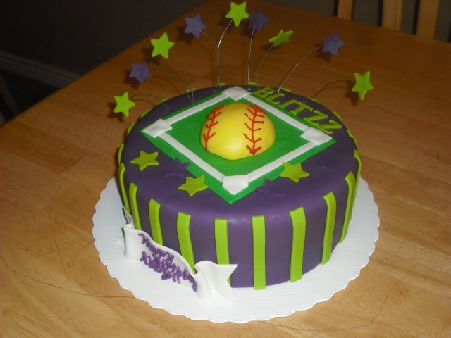 Softball Birthday Cakes Sprinklebelle Softball Birthday Cake