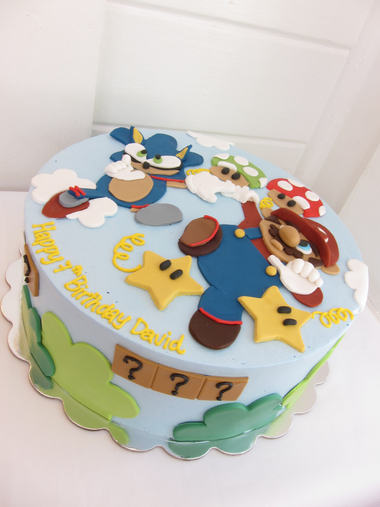 Sonic Birthday Cake Mario And Sonic Birthday Cake Polkadots Olga Flickr