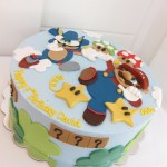 Sonic Birthday Cake Mario And Sonic Birthday Cake Polkadots Olga Flickr