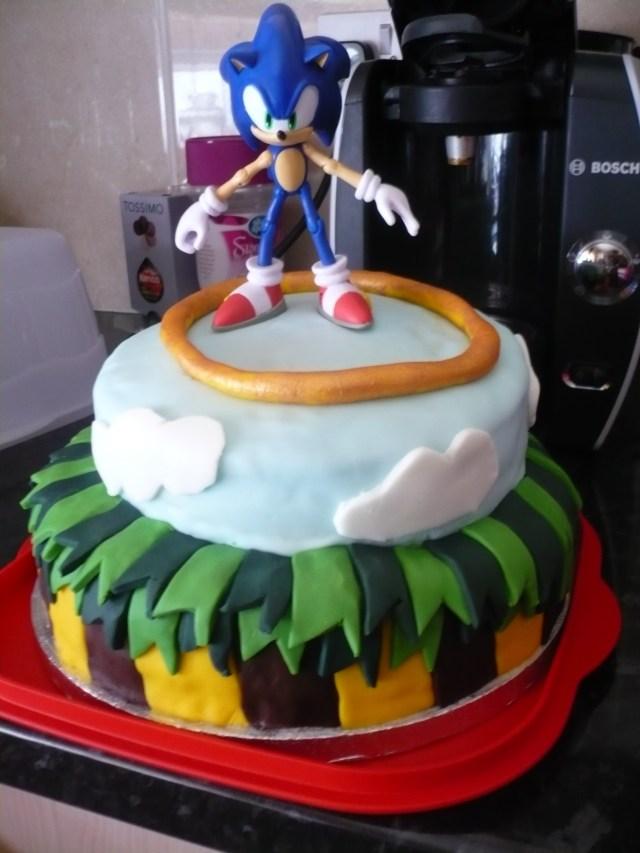 Sonic Birthday Cake Sonic The Hedgehog Birthday Cake Cooking