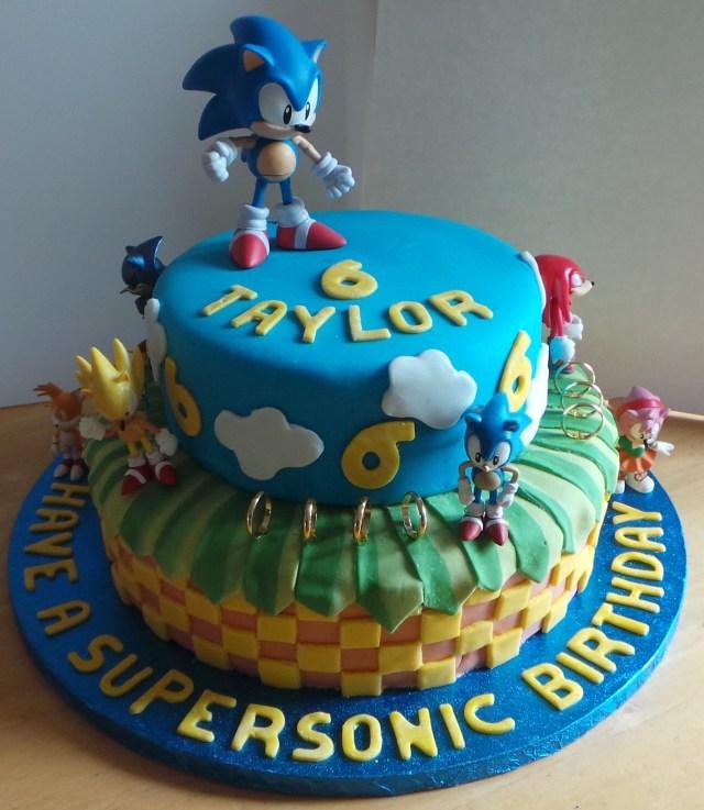 Sonic Birthday Cake Sonic The Hedgehog Cake Recipes To Cook Pinterest Sonic