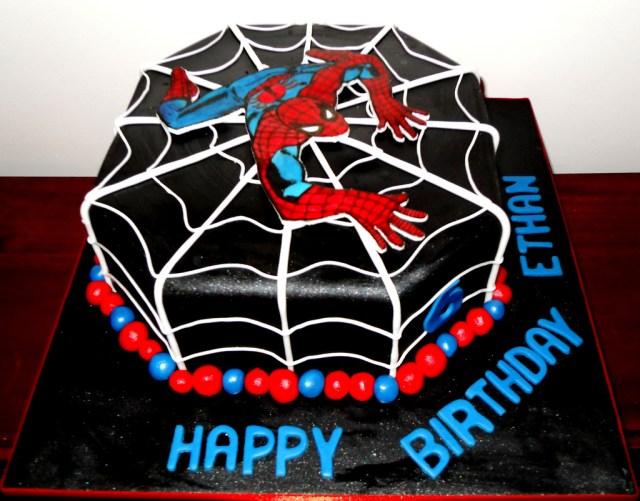 Spiderman Birthday Cake Black Spiderman Birthday Cake Black Spiderman Birthday Cak Flickr