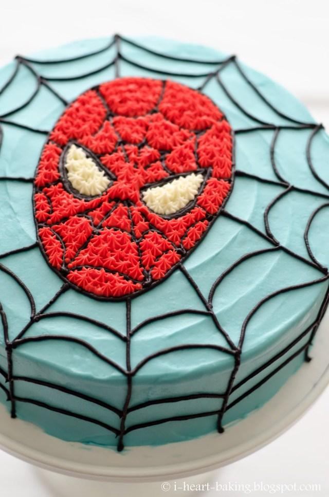 Spiderman Birthday Cake I Heart Baking Spiderman Birthday Cake