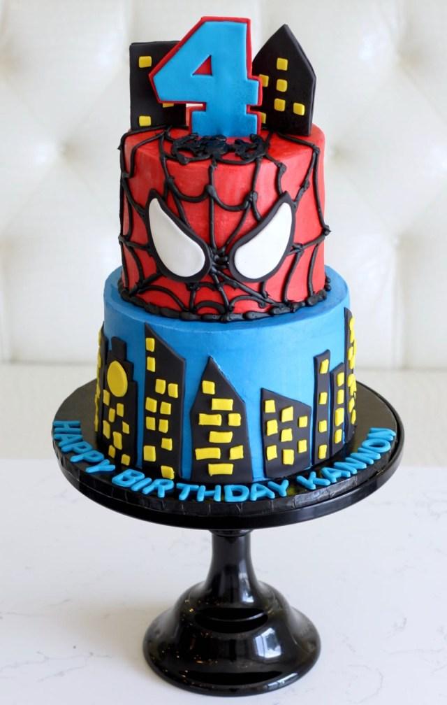 Spiderman Birthday Cake Rise Cupcakes Spiderman Birthday Cake