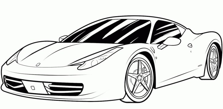 25+ Wonderful Picture of Sports Car Coloring Pages