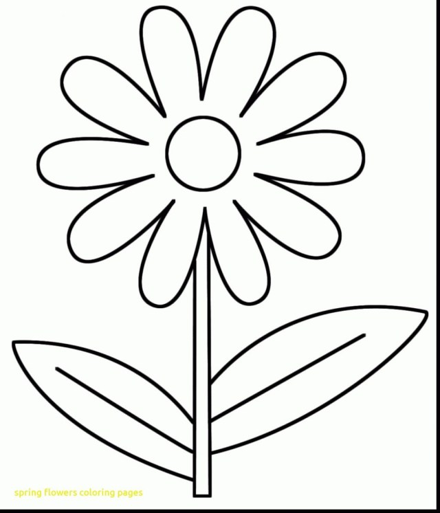 Spring Flowers Coloring Pages Spring Flowers Coloring Pages For Adults Printable Coloring Page