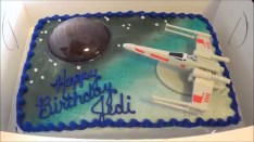 Star Wars Birthday Cakes My Star Wars Birthday Cake Youtube