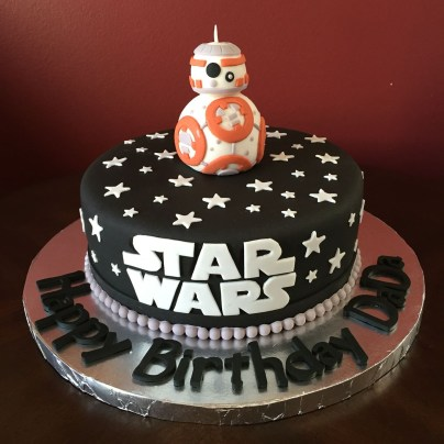 Star Wars Birthday Cakes Star Wars Bb 8 Birthday Cake Stuff For Leah Pinterest Star