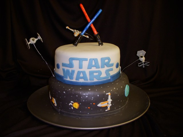Star Wars Birthday Cakes Star Wars Birthday Cake This Was Done For A 6year Olds Bi Flickr