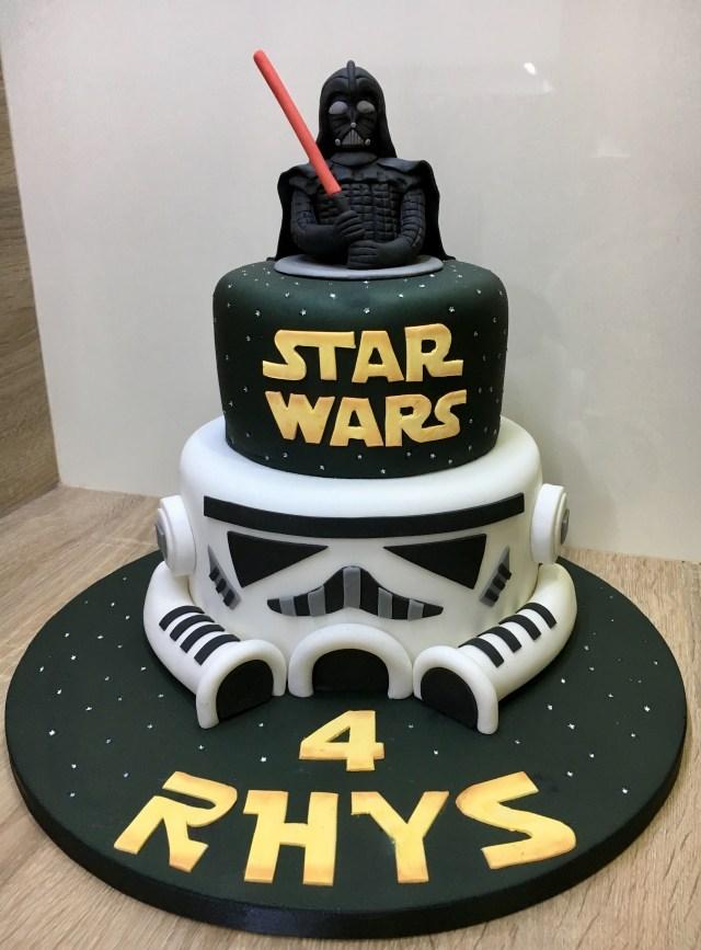 Star Wars Birthday Cakes Star Wars Darth Vader Stormtrooper Birthday Cake Lanes 6th