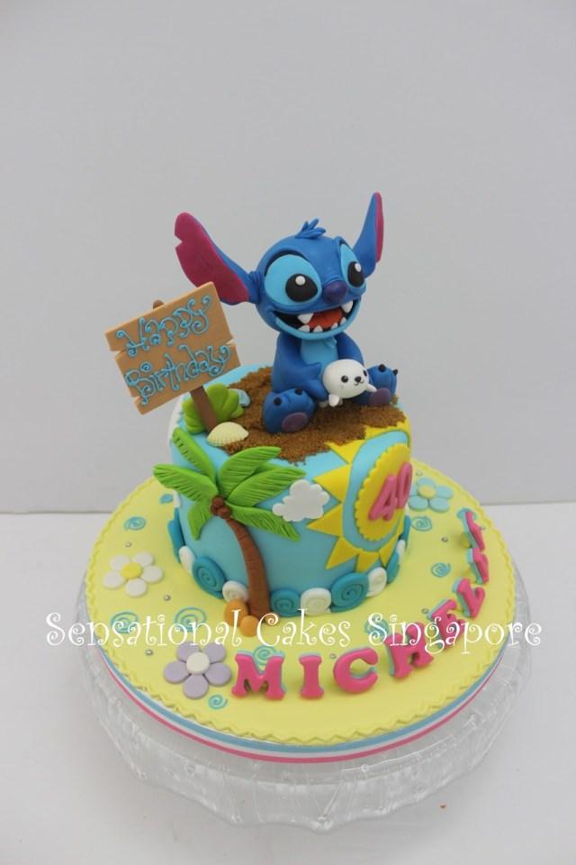 Stitch Birthday Cake The Sensational Cakes Detail Stitch Inspired Sugar Art Figurines