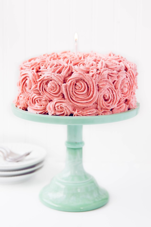 Strawberry Birthday Cakes Strawberry Almond Birthday Cake Broma Bakery