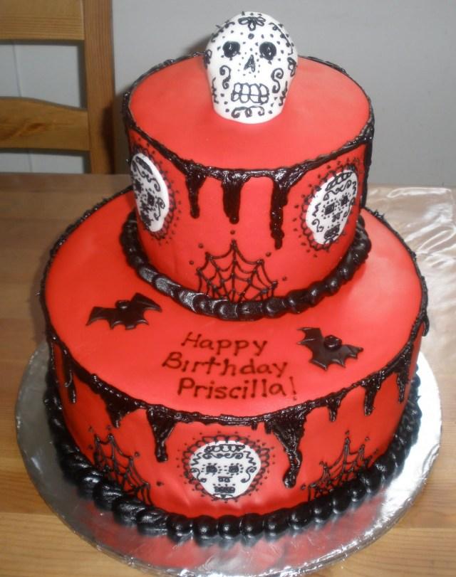 Sugar Skull Birthday Cake Cakes Perla Sugar Skull Birthday Cake