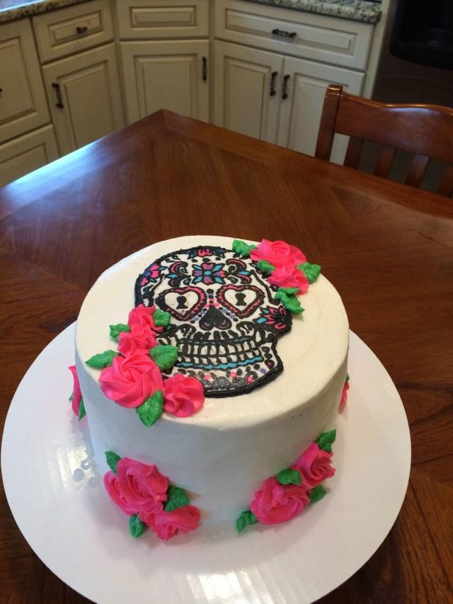 Sugar Skull Birthday Cake Candy Skull Birthday Cake Buttercream 21st Birthday For Her