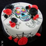 Sugar Skull Birthday Cake Painted Sugar Skull Cake Cakecentral