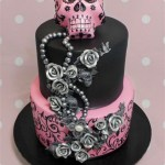 Sugar Skull Birthday Cake Sugar Skull 21st Cake Spooky Cakes And Party Themes Pinterest