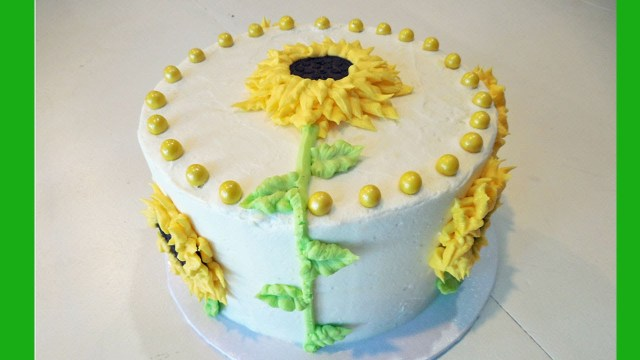 Sunflower Birthday Cake Decorate A Sunflower Flower Birthday Cake With Jill Youtube