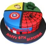 Superhero Birthday Cake All In One Superheroes Cake