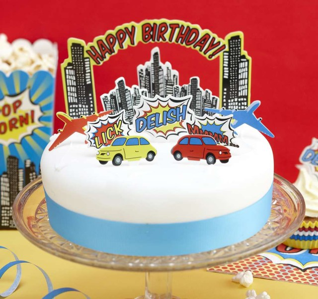 Superhero Birthday Cake Bright Superhero Birthday Party Cake Toppers Australias 1