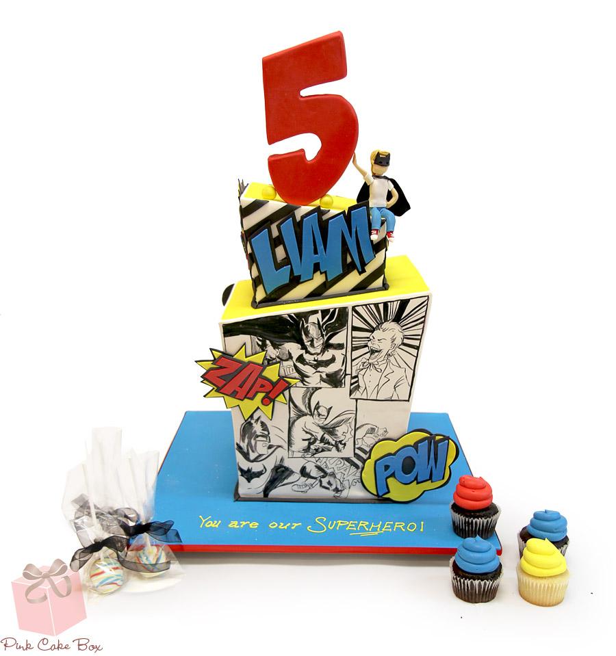 Superhero Birthday Cake Liams Superhero Birthday Cake