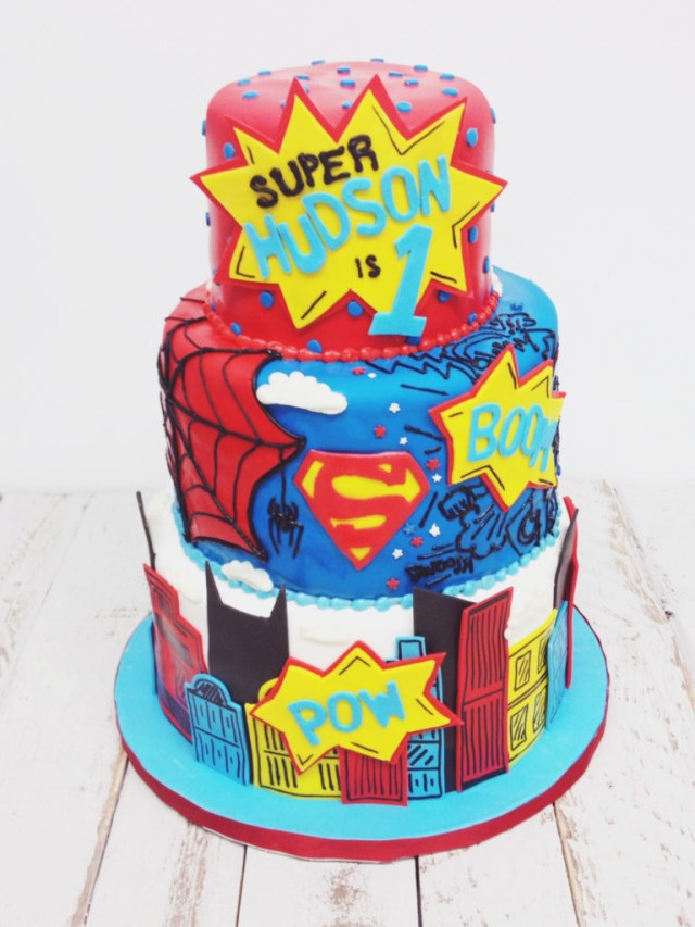 Superhero Birthday Cake Nashville Sweets Superhero Birthday Cake