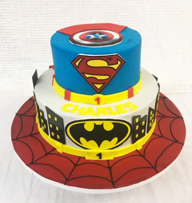 Superhero Birthday Cake Superhero Birthday Cake Palermos Custom Cakes Bakery