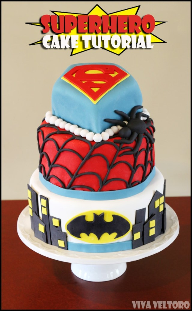 Superhero Birthday Cake Superhero Birthday Cake Tutorial With Cake Boss Viva Veltoro