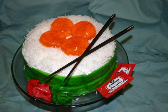 Sushi Birthday Cake Ikura Sushi Birthday Cake A Food Shaped Cake Cake Decorating On