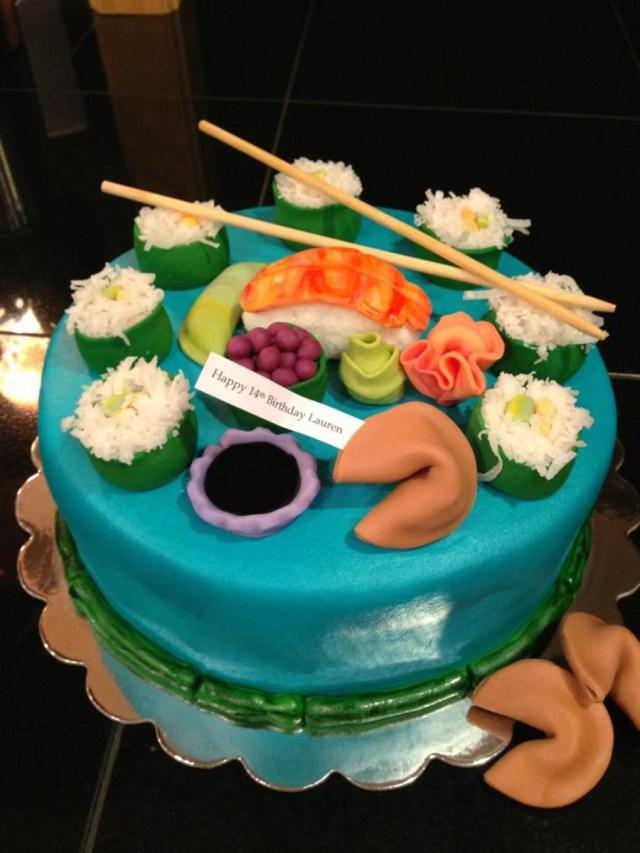 Sushi Birthday Cake Sushi Cake Cakecentral